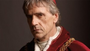 British TV Actor Jeremy Irons in the Borgias