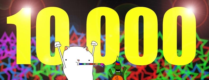 10,000 hits - whoot!