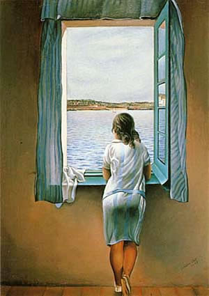 Girl in the window, Salvador Dali