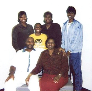 Troy Davis & his family