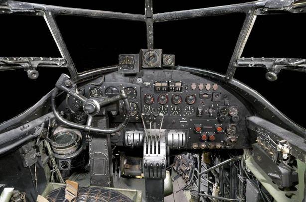 Lancaster bomber cockpit