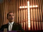 obama in church