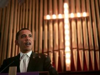 obama in church