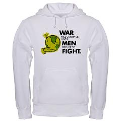 War will continue until men refuse to fight