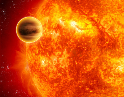 star eats planet