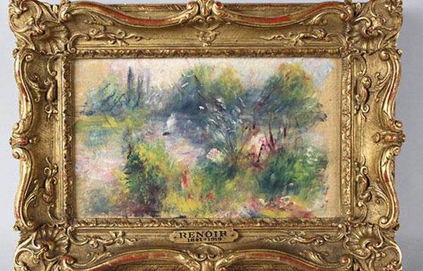 Lost renoir painting