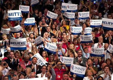 Republican convention audience