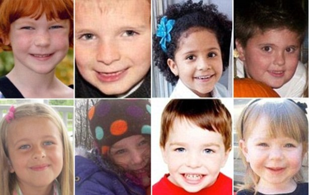 Just some of those shot repeatedly in the Newtown massacre.