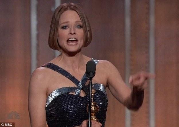 Jodie Foster accepts her lifetime achievement award