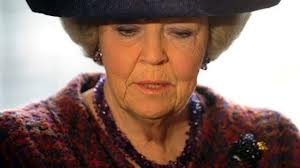 "Looking forward to a little ""Me"" time, no doubt. Queen Beatrix steps down."