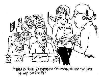 angry passenger