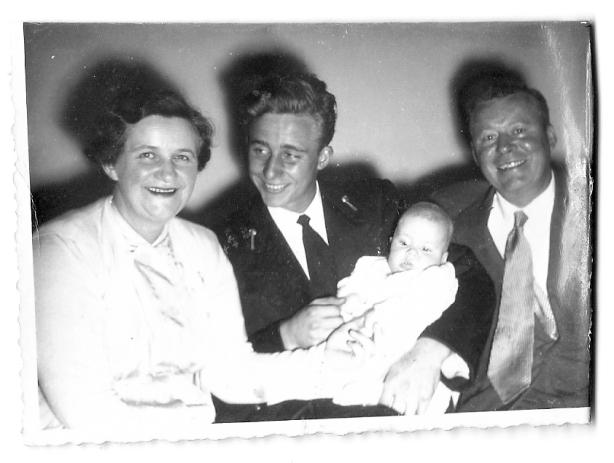 L-R Betty Yolland, Derek Yolland, me, Stewart Yolland
