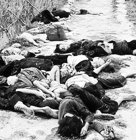 The My Lai massacre in Vietnam. As in most cases in that and other conflicts, bullets and bombs inflicted the majority of civilian casualties.