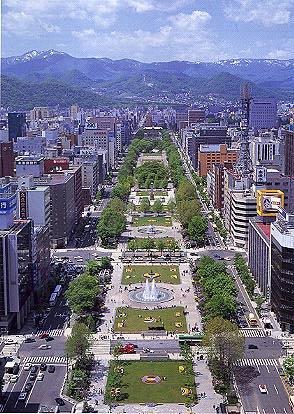 Central Sapporo in summer