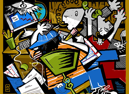 Multi-tasking, as seen by Picasso
