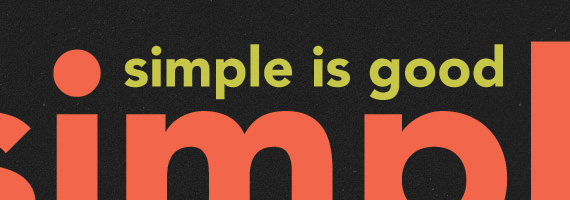 Simple enough for you?