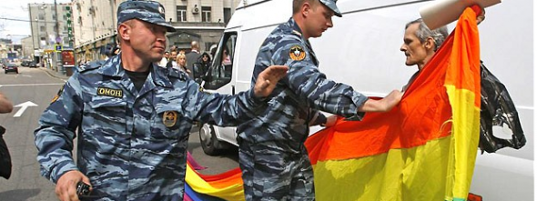 Holding a multi-coloured flag is now a threat to state security.
