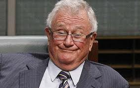 """WIlson """"Iron Bar"""" Tuckey only had to poke his head above the parapet to set Keating off."""