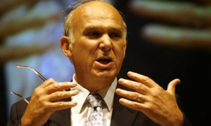 Vince Cable - a burr under Clegg's saddle, but wisely so.