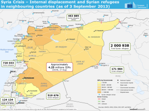 syria refugee map