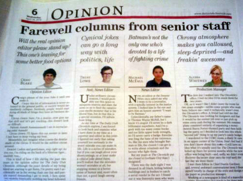 And last but not least, the power of the Leading Cap. I think you can discern the sub editor's view of these departing journos quite clearly.