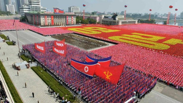 A parade marks the 1948 establishment of North Korea. Photo: Reuters