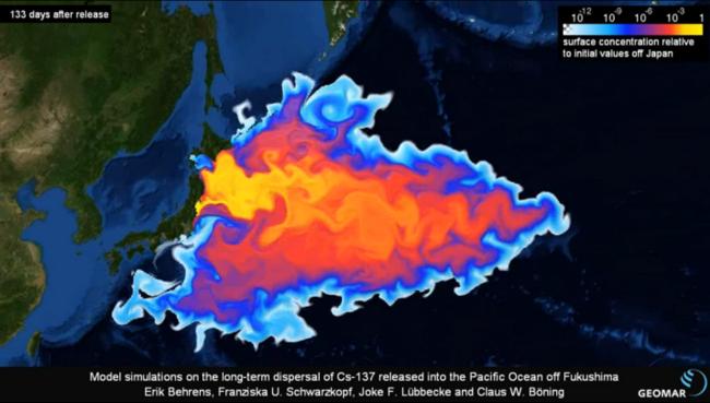 Fukashima radioactive sea plume