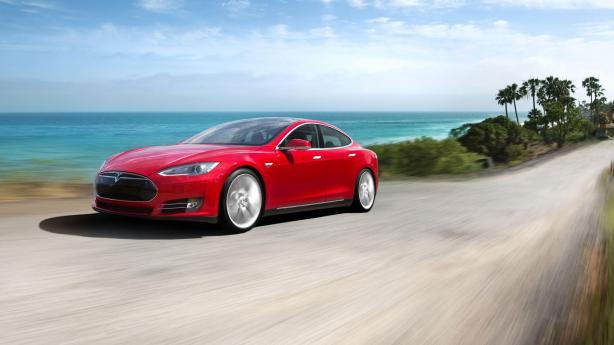 The Tesla. Apparently we can't make cars like this in Australia.