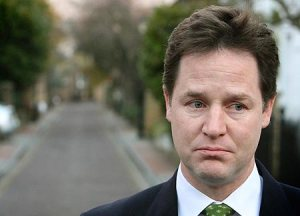 Um. Er. Well. Lib Dem leader Nick Clegg faces an uncomfortable future.