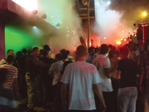 The bodies of the young college students were found piled up just inside the entrance of the Kiss nightclub in Brazil, when more than 230 people died in a cloud of toxic smoke and set off a panic. An early investigation into the tragedy revealed that security guards briefly prevented partygoers from leaving through the sole exit.  Brazilian bars routinely make patrons pay their entire tab at the end of the night before they are allowed to leave. The security guards made a dreadful decision - and some of them sadly died, too.