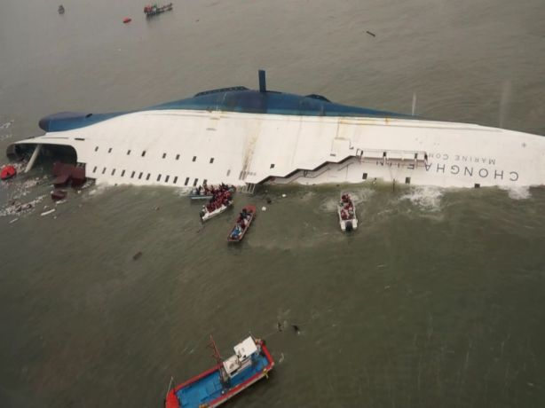 The Sewol moments before it finally turned turtle and sank. By then, many of those on board were already dead. Could some have survived if they had acted differently?