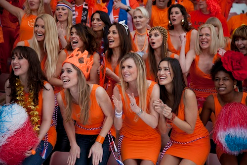 We'd like Holland to go all the way in this World Cup. Just, you know. Because.