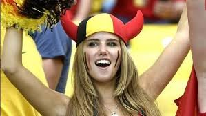 "Teen World Cup fan Axelle Despiegelaere scores L'Oreal modelling deal after photo goes viral. Ten million women shout ""Bitch!"""