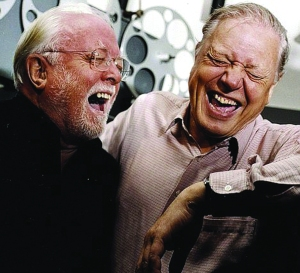 Attenborough and his equally well-loved brother, documentary maker David, share a happy moment.