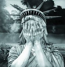 Sad Statue of Liberty