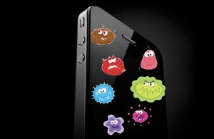 germs on cell phone