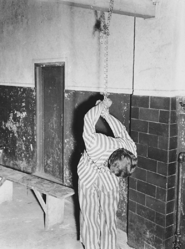 This was how they used to treat prisoners in Dachau. Is this how we want our governments to behave>
