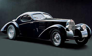 The Bugatti Type 57 - only three were ever made.
