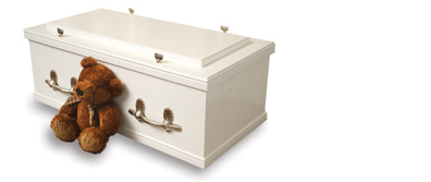 childs-white-oblong-casket