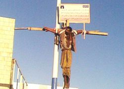 "US ""spy"" crucified in Yemen"