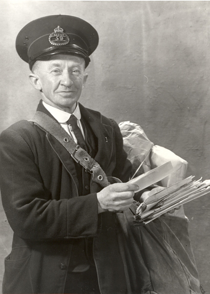 Postman with letters