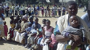 "Parents in the ""third world"" know what internet-fueled idiot parents in the West have forgotten - preventable diseases kill. Here mothers in Zimbabwe queue for MMR vaccine in 2006 after a measles outbreak killed 16 children. Measles still has the potential to kill hundreds of thousands of children annually, and is currently held at bay by UN health campaigns."