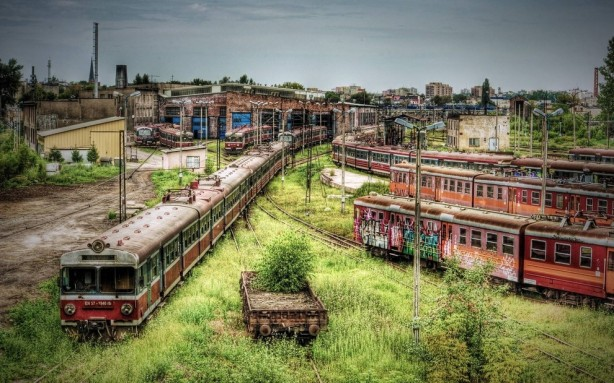 Abandoned train depot, Częstochowa, Poland