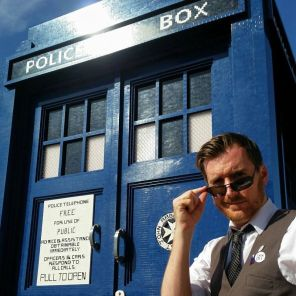Robert Lloyd and a Tardis made entirely of Lego. It's a long story.