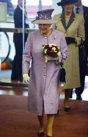 The Queen during her farewell visit to the ship on 2 June 2008.