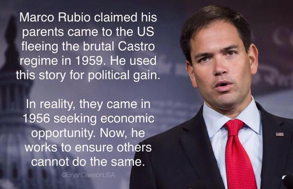 On this basis alone, Rubio should be ejected from the race for President. Only in America could such blatant lyign and hypocrisy be laughed off.