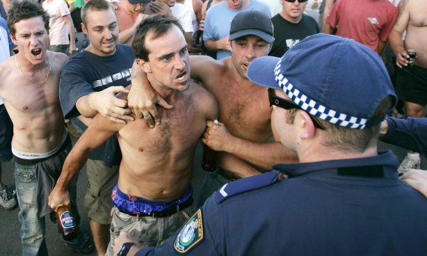 "The day ANZAC was most obviously co-opted by violent racists - the Cronulla riots of 2005. As the New South Wales then Returned Servicemens' League President, Don Rowe, later explained: ""We were absolutely disgusted. That is the last thing that Anzac is interpreted as being. The Anzac spirit is mateship, looking after one another . . . you certainly don't go around waving flags and call yourself an Anzac and go around belting people up. That's totally the opposite to what Anzac is."""