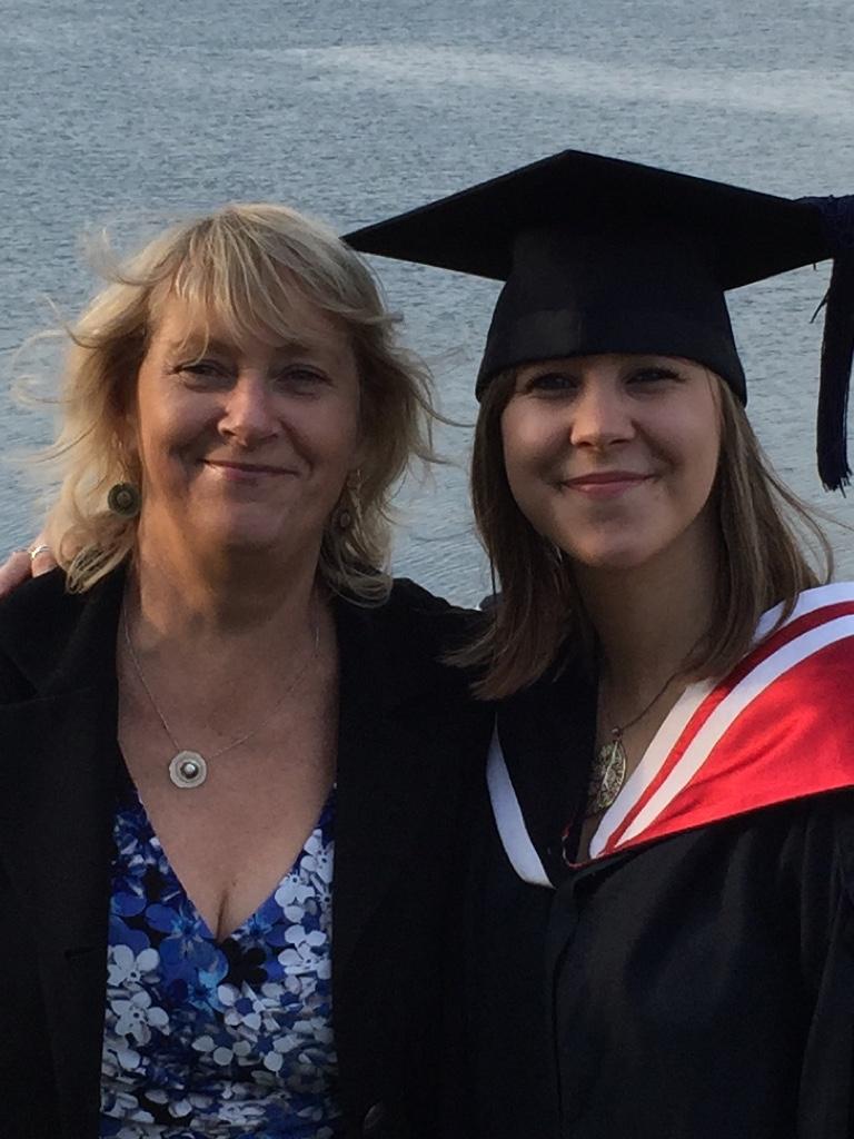 mum and caitlin