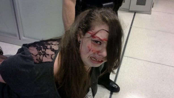 Hannah Cohen after being detained. Picture supplied.