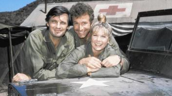 L-R, Alda, Rogers and co-star Loretta Swift.